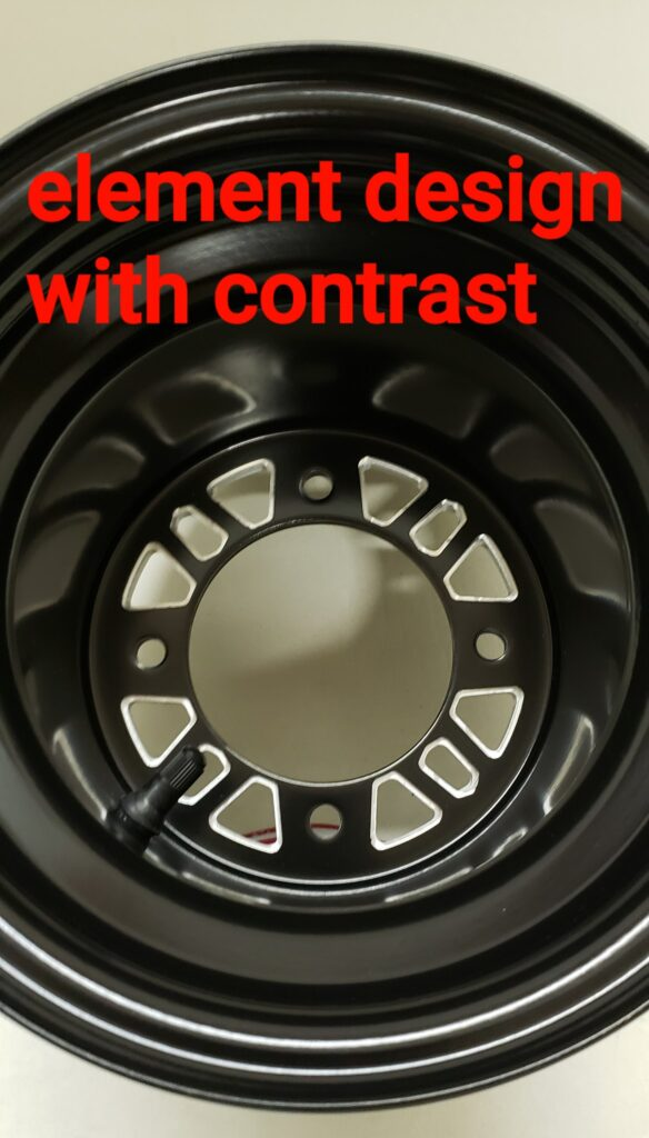 ELEMENT REAR HUB MOUNT WITH CONTRAST 8 INCH